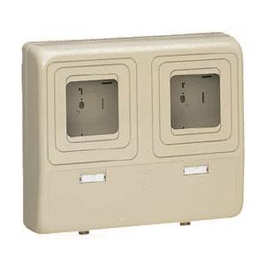 電力量計ボックス(化粧ボックス)ライトブラウン WP-3WLB 1個価格 未来工業 WP-3WLB