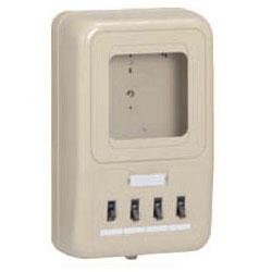 未来工業 電力量計ボックス(分岐ブレーカ・ELB付)ミルキーホワイト WP2-201KM 5個価格 WP2-201KM