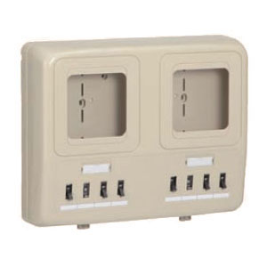 未来工業 電力量計ボックス(分岐ブレーカ・ELB付)ミルキーホワイト WP2W-201KM 6個価格 WP2W-201KM