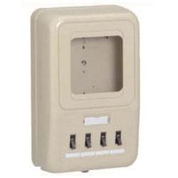 電力量計ボックス(分岐ブレーカ付)ベージュ WP4-203J 5個価格 未来工業 WP4-203J