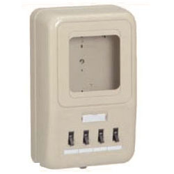 未来工業 電力量計ボックス(分岐ブレーカ付)ミルキーホワイト WP4-204M 5個価格 WP4-204M