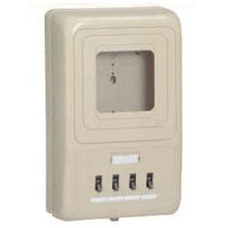 電力量計ボックス(分岐ブレーカ付)ベージュ WP4-304J 5個価格 未来工業 WP4-304J