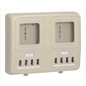 電力量計ボックス(分岐ブレーカ付)ベージュ WP4W-202J 6個価格 未来工業 WP4W-202J