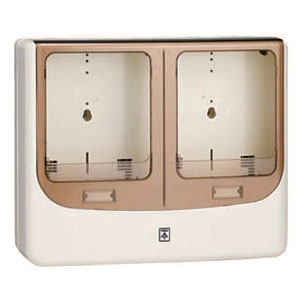 電力量計ボックス(バイザー付)グレー WPN-3WG-Z 1個価格 未来工業 WPN-3WG-Z