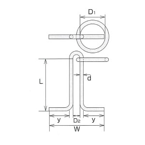 水本機械 ステンレス係船環 MI型 1個価格 MI-16