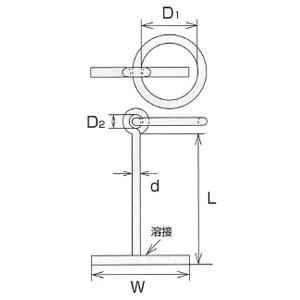 ステンレス係船環 MT型 1個価格 水本機械 MT-32