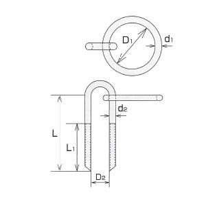 水本機械 ステンレス係船環 MUH型 1個価格 MUH-32-28