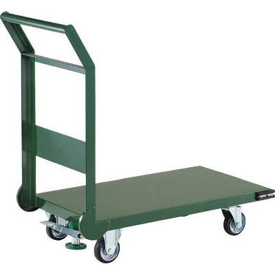 トラスコ 鋼鉄製運搬車(導電性・ストッパー付)800×450mm グリーン【代引不可・メーカー直送品】 SH-3NES-GN