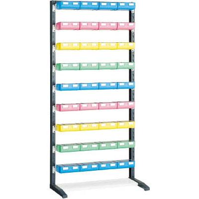 トラスコ UPRラックH=1900 ビン大青×12赤・黄・薄緑各8個付 蓋付 UPR-L1809BF