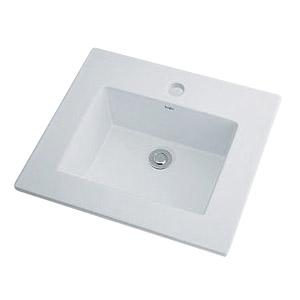 カクダイ 角型洗面器W370×D360ミリ 1個価格 ※取寄品 493-093