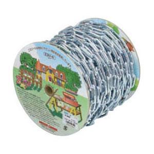 鉄チェイン(鎖)(ヘビーリンク) 15m巻(リール巻) ユニクロ 取寄品 ニッサチェイン R-IW85