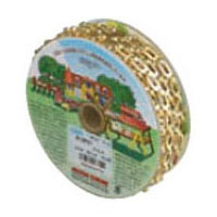 真鍮チェイン(鎖)(サッシュUタイプ)30m(箱入)板厚0.5mm ニッケル【取寄せ品】 ニッサチェイン BP27