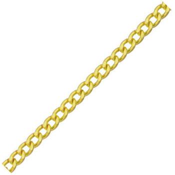 真鍮チェイン(鎖)(フリクションショートマンテル)30m(箱入)線径3.2mm【取寄せ品】 ニッサチェイン BS32F