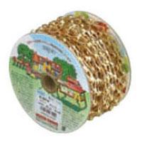 真鍮チェイン(鎖)(サッシュ)R-BP14 15m巻(リール巻)ニッケル【取寄せ品】 ニッサチェイン R-BP14