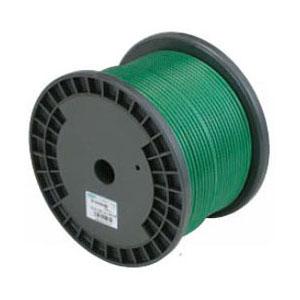 ニッサチェイン 鉄ワイヤーロープビニコートタイプ(リール巻)200m巻 ロープ径4.0mm 青【取寄せ品】 R-IY60V