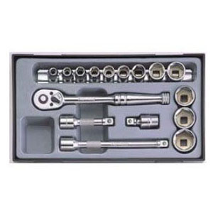 SEK(スエカゲ) Pro-Auto3/8inchDR.16PC.ツールキット(PAシリーズ)(差込角9.5mm) PA3160