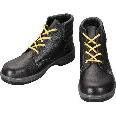 シモン 静電安全靴 編上靴 黒 25.0cm 7522S25.0