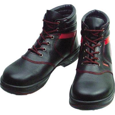 シモン 安全靴 中編上靴 SL22-R黒/赤 25.5cm SL22R25.5