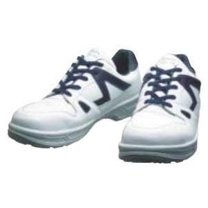 シモン 安全靴 短靴 白/ブルー 24.0cm 8611WB24.0