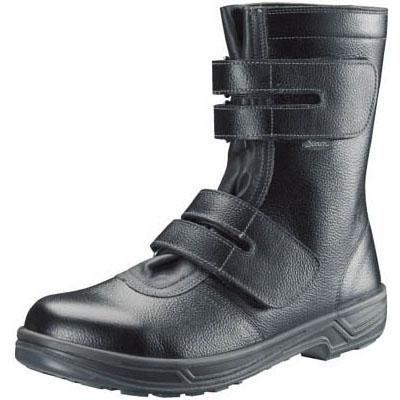 シモン 安全靴 長編上靴マジック式 SS38黒 24.5cm SS3824.5