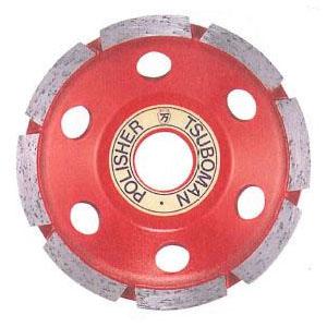 ツボ万 ポリッシャーカップ 外径100×チップ厚4.5×チップ幅6.5×穴径20 取寄せ品 CWM-100×20