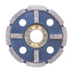 ツボ万 ポリッシャー十字 外径100×チップ厚4.5×チップ幅7×穴径22.0 取寄せ品 FWM-100(C)×22