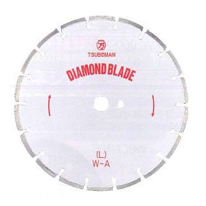 ツボ万 ダイヤモンドカッター「大口径ブレード」L型 外径10インチ×厚2.5×チップ幅7.5【取寄せ品】 L-10×7.5×27