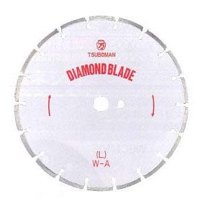 ツボ万 ダイヤモンドカッター「大口径ブレード」L型 外径DX16インチ×厚3.0×チップ幅7.5【取寄せ品】 L-16×7.5×27