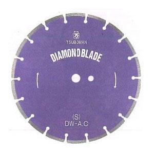 ツボ万 ダイヤモンドカッター「大口径ブレード」S型 外径DX16インチ×厚3.0×チップ幅7.5【取寄せ品】 S-16×7.5×27