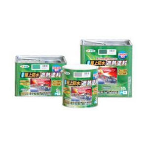 アサヒペン アサヒペン 水性屋上防水遮熱塗料 5L ライトグリーン