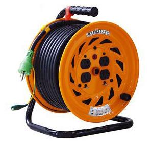 日動 標準型電工ドラム(屋内型)30m 極太電線仕様 100Vアース付【取寄品】 NF-E34F