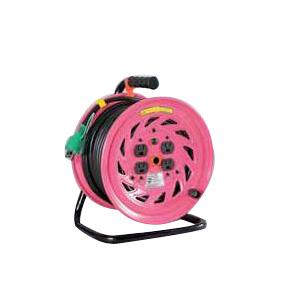 日動 標準型電工ドラム(屋内型)30m 100Vアース付 抜止防止プラグ付【取寄品】 NF-E34N