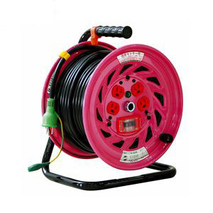 日動 標準型電工ドラム(屋内型)30m 100Vアース付 過負荷漏電遮断付 抜止防止プラグ付【取寄品】 NF-EK34N