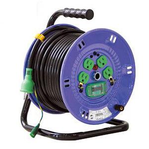 日動 標準型電工ドラム(屋内型)30m(100Vアース付)VCT 2.0×3 NP-EB34