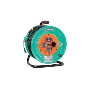 日動 防雨型電エドラム(屋外型)30m アース付 漏電遮断付 NW-EB33