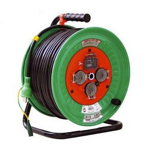日動 防雨型電エドラム(屋外型)50m アース付 漏電遮断付 NW-EB53