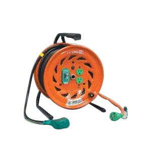 日動 延長コード型ドラム(びっくリール)30m アース付 漏電遮断付【取寄品】 RND-EB30S