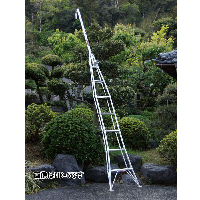 ナガノ アルミ一本梯子 高さ5.11m【メーカー直送品】 HD-12