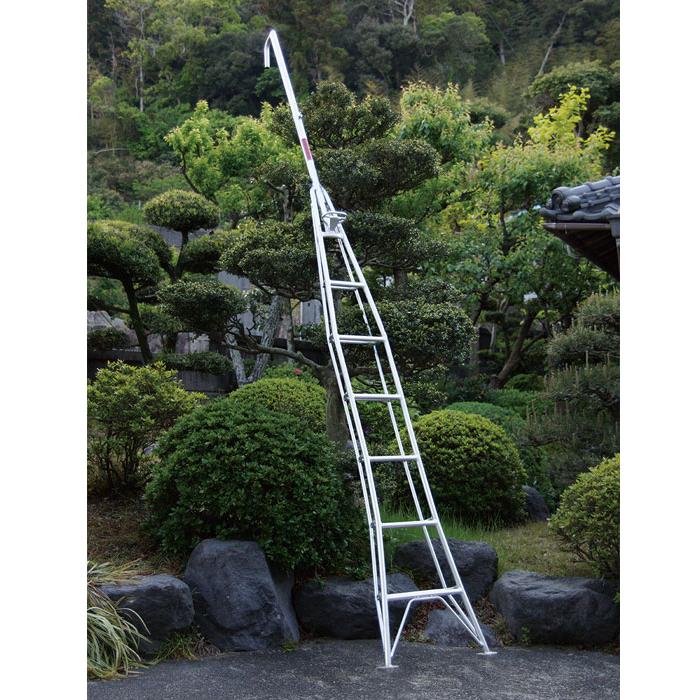 ナガノ アルミ一本梯子 高さ3.25m【メーカー直送品】 HD-6