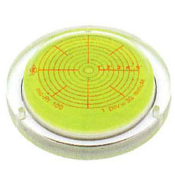 KOD 角度計付丸型アイベル水平器(取付穴付)150mm INC-Rt-150