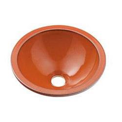 カクダイ 丸型手洗器 鉄赤 1個価格 493-013-R 493-013-R