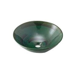 カクダイ 丸型手洗器 青竹 1個価格 493-046-GR 493-046-GR