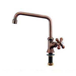 カクダイ カラー泡沫立形自在水栓 ブロンズ 1個価格 700-712-13 700-712-13