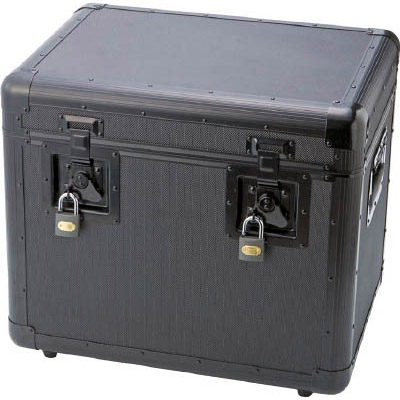 トラスコ 万能 アルミ保管箱 黒 480×360×410 TAC480BK