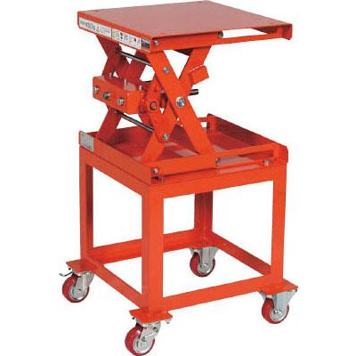 トラスコ 作業台リフター(手動昇降式)架台付 テーブル寸法幅500×長さ500mm【代引不可・メーカー直送品】 SLHD305050