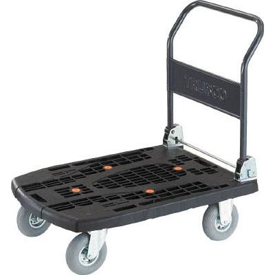トラスコ 軽量樹脂製運搬車カルティオビッグ(ハンドルタイプ・空気入タイヤ仕様) メーカー直送 MPK906ARBK