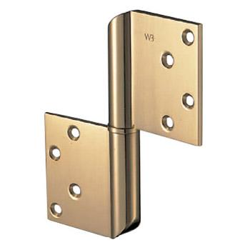 真鍮角切異形旗丁番 127×102 クローム 1箱2枚価格 ※メーカー取寄品 シロクマ BB-104