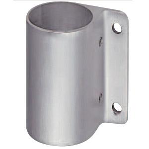 支柱ブラケット通 45mm径用 ヘアーライン 1箱6個価格 ※メーカー取寄品 シロクマ ABR-819