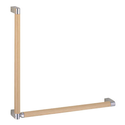 シルエット手すりL形 左 ナチュラルウッド/純金 1組価格 ※メーカー取寄品 シロクマ BR-581L