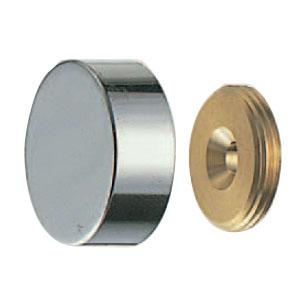 シロクマ 真鍮 プレーン鏡止 22mm径 クローム 1箱20個価格 ※メーカー取寄品 BT-12